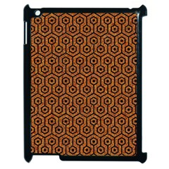 Hexagon1 Black Marble & Rusted Metal Apple Ipad 2 Case (black) by trendistuff