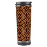 HEXAGON1 BLACK MARBLE & RUSTED METAL Travel Tumbler Right