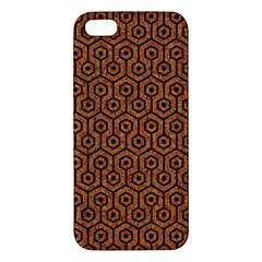Hexagon1 Black Marble & Rusted Metal Iphone 5s/ Se Premium Hardshell Case