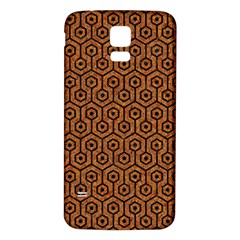 Hexagon1 Black Marble & Rusted Metal Samsung Galaxy S5 Back Case (white) by trendistuff
