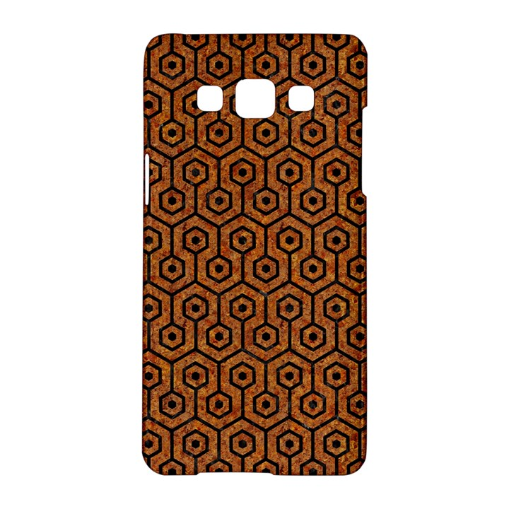 HEXAGON1 BLACK MARBLE & RUSTED METAL Samsung Galaxy A5 Hardshell Case