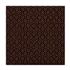HEXAGON1 BLACK MARBLE & RUSTED METAL (R) Tile Coasters
