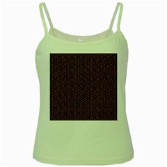Hexagon1 Black Marble & Rusted Metal (r) Green Spaghetti Tank by trendistuff