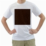 HEXAGON1 BLACK MARBLE & RUSTED METAL (R) Men s T-Shirt (White) (Two Sided)