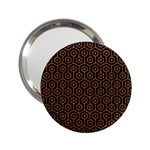 HEXAGON1 BLACK MARBLE & RUSTED METAL (R) 2.25  Handbag Mirrors
