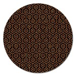 HEXAGON1 BLACK MARBLE & RUSTED METAL (R) Magnet 5  (Round)