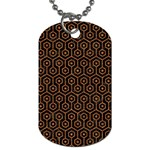 HEXAGON1 BLACK MARBLE & RUSTED METAL (R) Dog Tag (One Side)