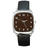 HEXAGON1 BLACK MARBLE & RUSTED METAL (R) Square Metal Watch