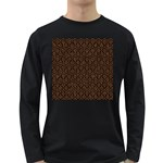 HEXAGON1 BLACK MARBLE & RUSTED METAL (R) Long Sleeve Dark T-Shirts Front