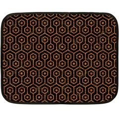 HEXAGON1 BLACK MARBLE & RUSTED METAL (R) Double Sided Fleece Blanket (Mini)