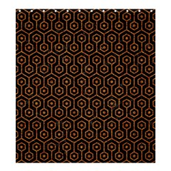 HEXAGON1 BLACK MARBLE & RUSTED METAL (R) Shower Curtain 66  x 72  (Large)