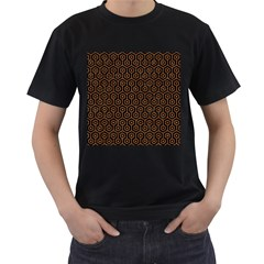 Hexagon1 Black Marble & Rusted Metal (r) Men s T Shirt (black) by trendistuff