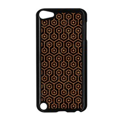 HEXAGON1 BLACK MARBLE & RUSTED METAL (R) Apple iPod Touch 5 Case (Black)