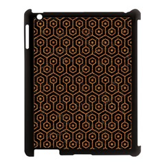 Hexagon1 Black Marble & Rusted Metal (r) Apple Ipad 3/4 Case (black) by trendistuff