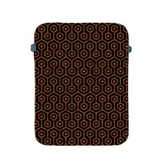 Hexagon1 Black Marble & Rusted Metal (r) Apple Ipad 2/3/4 Protective Soft Cases by trendistuff