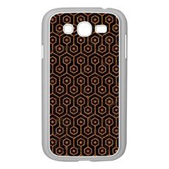 HEXAGON1 BLACK MARBLE & RUSTED METAL (R) Samsung Galaxy Grand DUOS I9082 Case (White)