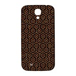 HEXAGON1 BLACK MARBLE & RUSTED METAL (R) Samsung Galaxy S4 I9500/I9505  Hardshell Back Case Front