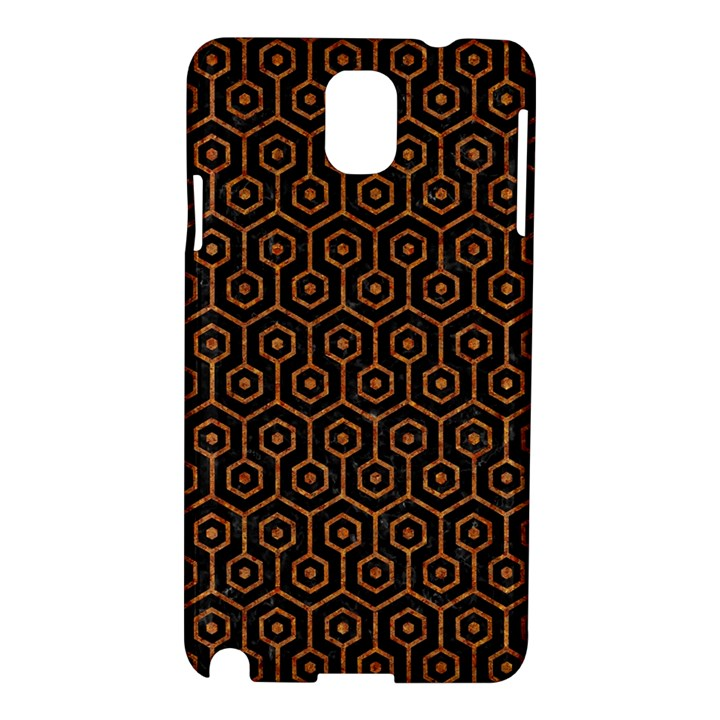 HEXAGON1 BLACK MARBLE & RUSTED METAL (R) Samsung Galaxy Note 3 N9005 Hardshell Case