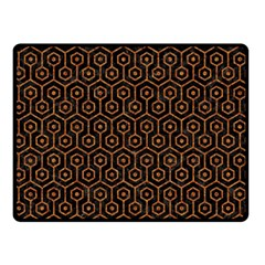 HEXAGON1 BLACK MARBLE & RUSTED METAL (R) Double Sided Fleece Blanket (Small)