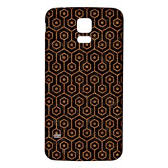 HEXAGON1 BLACK MARBLE & RUSTED METAL (R) Samsung Galaxy S5 Back Case (White)