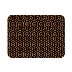 Hexagon1 Black Marble & Rusted Metal (r) Double Sided Flano Blanket (mini)