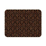 HEXAGON1 BLACK MARBLE & RUSTED METAL (R) Double Sided Flano Blanket (Mini)  35 x27 Blanket Front
