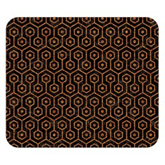 HEXAGON1 BLACK MARBLE & RUSTED METAL (R) Double Sided Flano Blanket (Small)