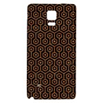 HEXAGON1 BLACK MARBLE & RUSTED METAL (R) Galaxy Note 4 Back Case Front
