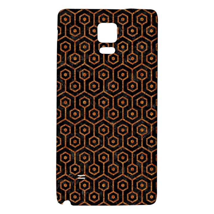 HEXAGON1 BLACK MARBLE & RUSTED METAL (R) Galaxy Note 4 Back Case