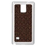 HEXAGON1 BLACK MARBLE & RUSTED METAL (R) Samsung Galaxy Note 4 Case (White) Front