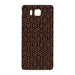 HEXAGON1 BLACK MARBLE & RUSTED METAL (R) Samsung Galaxy Alpha Hardshell Back Case Front