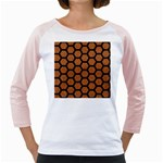 HEXAGON2 BLACK MARBLE & RUSTED METAL Girly Raglans Front