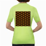 HEXAGON2 BLACK MARBLE & RUSTED METAL Women s Green T-Shirt Back