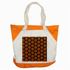 Hexagon2 Black Marble & Rusted Metal Accent Tote Bag by trendistuff