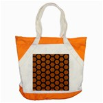HEXAGON2 BLACK MARBLE & RUSTED METAL Accent Tote Bag Front