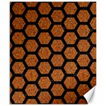 HEXAGON2 BLACK MARBLE & RUSTED METAL Canvas 8  x 10  10.02 x8 Canvas - 1