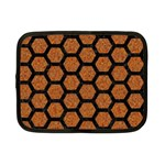 HEXAGON2 BLACK MARBLE & RUSTED METAL Netbook Case (Small)  Front