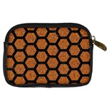 HEXAGON2 BLACK MARBLE & RUSTED METAL Digital Camera Cases Back