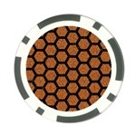 HEXAGON2 BLACK MARBLE & RUSTED METAL Poker Chip Card Guard (10 pack) Back