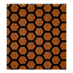 HEXAGON2 BLACK MARBLE & RUSTED METAL Shower Curtain 66  x 72  (Large)