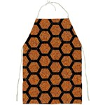 HEXAGON2 BLACK MARBLE & RUSTED METAL Full Print Aprons Front