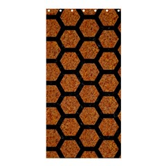 HEXAGON2 BLACK MARBLE & RUSTED METAL Shower Curtain 36  x 72  (Stall)