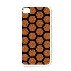 Hexagon2 Black Marble & Rusted Metal Apple Iphone 4 Case (white) by trendistuff