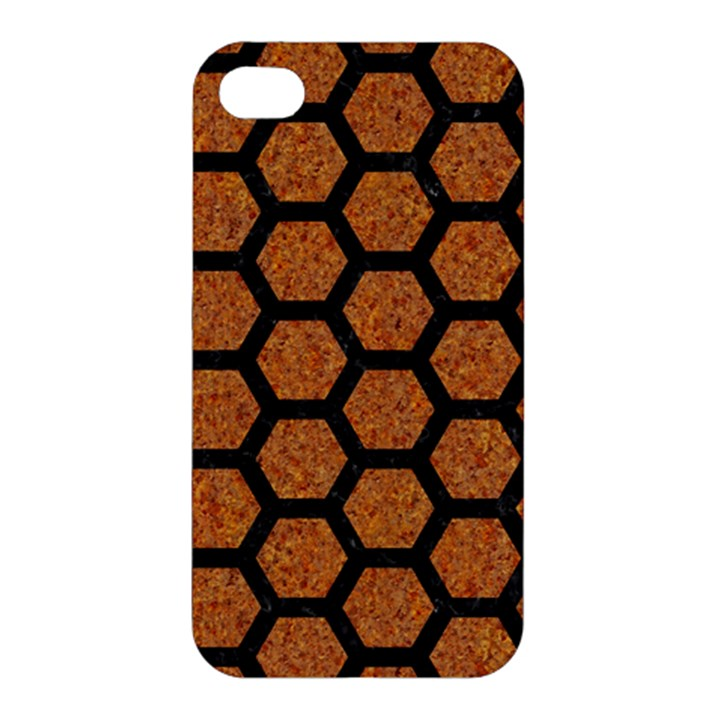 HEXAGON2 BLACK MARBLE & RUSTED METAL Apple iPhone 4/4S Hardshell Case