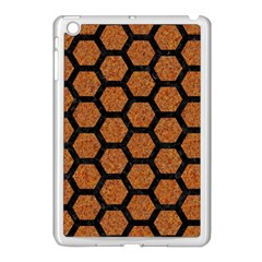 Hexagon2 Black Marble & Rusted Metal Apple Ipad Mini Case (white)