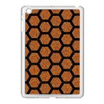 HEXAGON2 BLACK MARBLE & RUSTED METAL Apple iPad Mini Case (White) Front