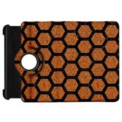 Hexagon2 Black Marble & Rusted Metal Kindle Fire Hd 7  by trendistuff