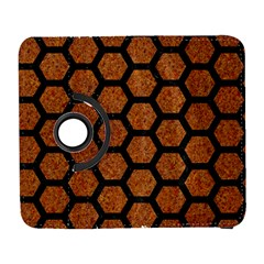 Hexagon2 Black Marble & Rusted Metal Galaxy S3 (flip/folio)