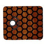 HEXAGON2 BLACK MARBLE & RUSTED METAL Galaxy S3 (Flip/Folio) Front