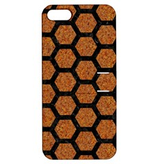 HEXAGON2 BLACK MARBLE & RUSTED METAL Apple iPhone 5 Hardshell Case with Stand